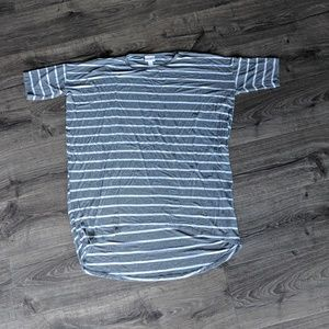 LuLaRoe Irma grey striped